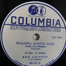 78 Rpm Ken Griffin y su órgano pequeno Monito Rojo/gelatinas Ojos Verdes 20163