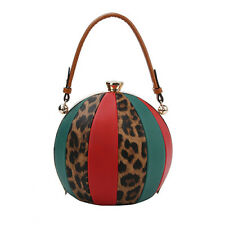 L0180 Ball Shape Giraffe Print Color Block Handbag