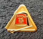 Masonic Shriners Aahmes Temple Lapel Pin Red Fez in Triangle enamel