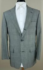 J. Press houndstooth plaid check wool sport coat gray vented 3 button 44L