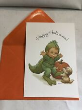 New Happy Halloween Card Teenie Halloweenies Puppy Lizard Costume