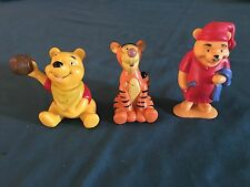 Winnie The Pooh Pvc Figure Lot Of 3 Nighttime Pooh Tigger