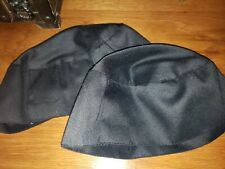 2 Black Chef Hat velcros On Back. One Size Fit Most.