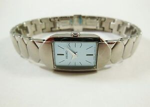 Seiko Silver Tone Stainless Steel 1N00-0ED8 Sample Watch NON-WORKING