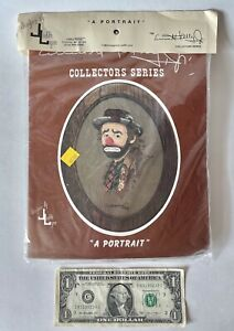 "⭐️EMMETT KELLY JR Cross Stitch ""A PORTRAIT"" Vintage 1989 NEW SEALED KIT. Hobo"