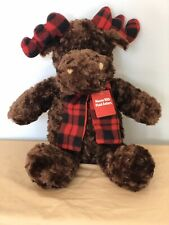 Plush Moose Dan Dee Collectors Choice Plaid Antlers Floppy Soft Large Cuddly
