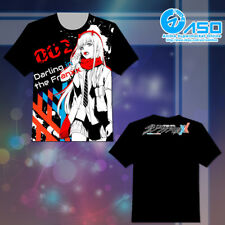 Anime T shirt Darling in the FranXX Zero Two Summer Unisex Short Casual Tee Tops