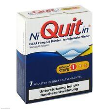 NIQUITIN Clear 21 mg transdermale Pflaster 7St PZN 02919670