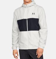 Under Armour Wind Jacket Mens 3XL New White Black Lightweight Woven Full Zip