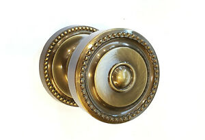 Omnia Ornate Passage Door Knob Set, Shaded Bronze Solid Knobset 430 00 PA4 SB