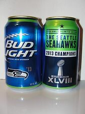 2015 Bud Light Beer Can ~ The Seattle Seahawks 2013 Super Bowl Xlviii Champions