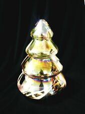 """MURANO - Murano Style Hand Blown Iridescent Glass Christmas Tree 8.5"""""""