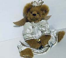 "NEW ANGEL KNICKERBOCKER TOY CO. ""ISABELLA"" - 16"" BEAR SILVER BELLS CHRISTMAS 🎄"
