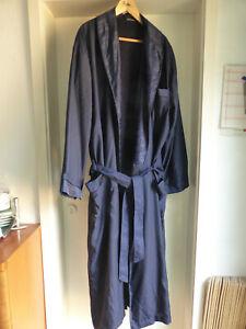 Edel! Herren Morgenmantel Kimono Hausmantel Bademantel Fashion Affairs blau