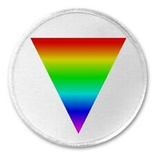 """LGBT Safe Space Rainbow Triangle - 3"""" Sew  Iron On Patch Homosexual Trans Rights"""