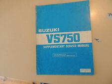 Service manual addendum SUZUKI VS750 GL Intruder 1988 Werkstatthandbuch Erg.