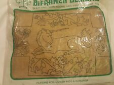 Vintage DiFranza Designs Latch Hook Kit Brick Cover Unicorn 1208-80 Yarn Craft