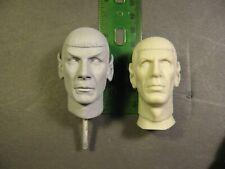 1/6 scale Spock resin replacement head for amt star trek vinyl model kit