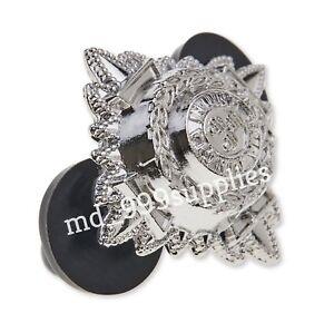 4x Police Inspector Pips / Bath Stars METAL Insp Epaulettes Chrome insignia Cop