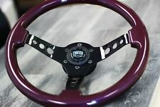 "350mm Black Chrome Steering Wheel Purple Grip JDM Drift Tuner (14"") - 6 Hole KDM"