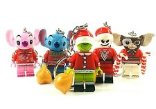 The Grinch Mini Figure Keyring Jack Skellington Christmas Santa Gizmo Stitch
