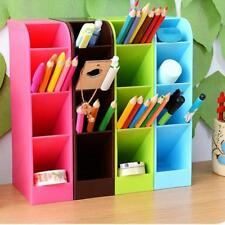 Plastic Desk Organizer Desktop Office Pen Pencil Holder Makeup Storage Tray