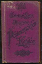 LITERATUUR, GEBRÜDER SENF'S ILLUSTRIERTER POSTWERTZEICHEN-KATALOG 1899 Zk994