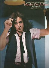 EDDIE MONEY-MAYBE I'M A FOOL-PIANO/V/GUITAR CHORDS SHEET MUSIC RARE NEW ON SALE!