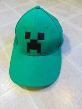 MINECRAFT Creeper HAT Youth Green Snap Back Embroidered Jinx Online Video Game