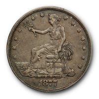 1877 $1 Trade Dollar Extra Fine XF Original US Type Coin #RP145