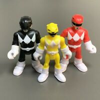 3x Fisher-Price Imaginext Power Rangers Yellow Red Action Figure Mighty Morphin