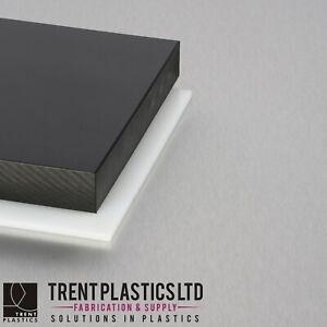 HDPE Sheet NATURAL & BLACK - High Density Polyethylene PEHD Polythene mm