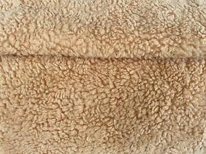 Baumwoll Teddy Fell Plüsch Fleece CARAMEL ** 150 cm breit