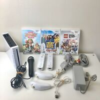 Nintendo Wii Console Bundle - 2 Controllers - Singing Games with Microphone