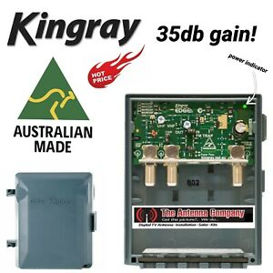 GME Kingray Wideband Dual Input VHF/UHF Amplifier Antenna Booster w LTE MHW35F