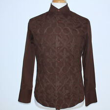 "NEW GORGEOUS ROAR ""PLAY"" RAOUL SLIM FIT LONG SLEEVE JACQUARD VERY HEAVY SHIRT M"