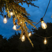 Connectable Outdoor Glass LED Filament Festoon Lights | Industrial Globe Bulb