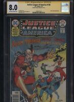 Justice League of America #138 CGC 8.0 SS Neal Adams 1977