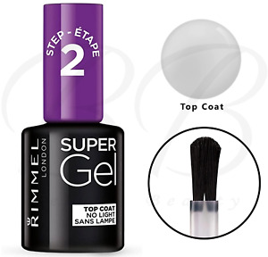 RIMMEL Super Gel Nail Polish Glossy Transparent 2 Step 14 days Top Coat *NEW*