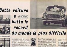 Coupure de presse Clipping 1963 Ford Taunus et ses 300 000 kms  (4 pages)