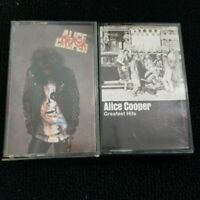 Lot of 2 Alice Cooper Trash & Greatest Hits Music Cassette Lot of 2 Tested