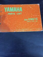 Yamaha GTMXF 1979 Parts List