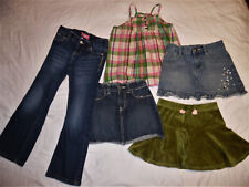 Mix & Match Lot Denim Skirts Jeans Cami Tank Top Lot of 5 Girls Size 5