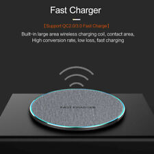 US 15W/10W Fast Charger Qi Wireless Charging Dock Pad Mat For iPhone 11 11Pro XS