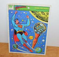 Vintage SUPERMAN FRAME TRAY PUZZLE DC Comics Whitman 1970's Super Hero Retro
