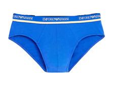 $45 EMPORIO ARMANI Men Cotton Stretch BRIEF 111321 BLUE GOLD UNDERWEAR SIZE S