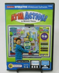 ATM ACTION - INTERACTIVE  WHITEBOARD MONEY GAME PC CD-ROM, ILAKESHORE, MATH SKIL