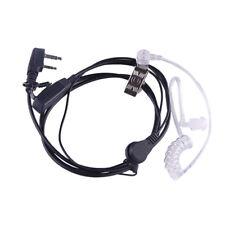2Pin SIA Covert Security Earpiece Headset Mic for Motorola Kenwood Baofeng Radio