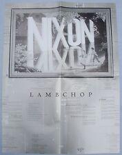 LAMBCHOP Nixon Poster MERGE SILVER JEWS VIC CHESTNUTT