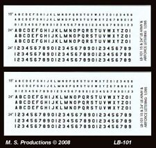 1/144 Decals LB-101 Letters Numbers US Army & Airforce